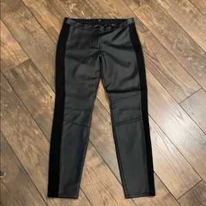Black Faux Leather Pants